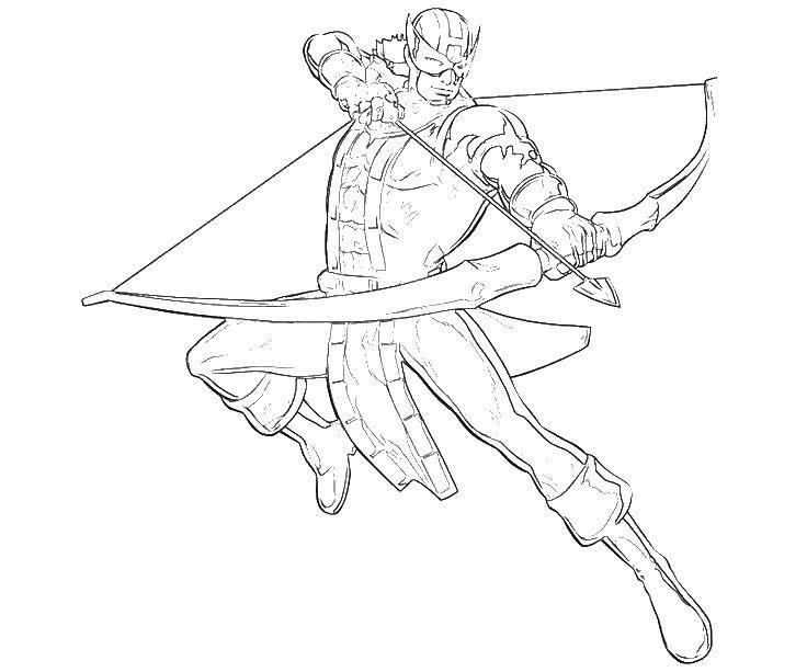 Coloring Archer Download ,superheroes, Archer,.  Print
