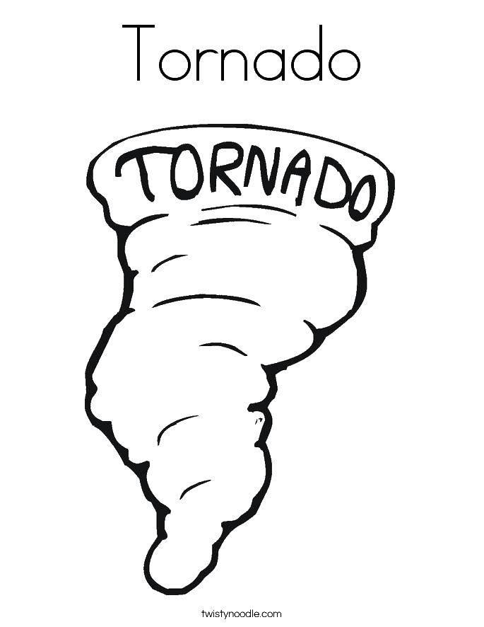 Coloring Tornado. Download nature, disaster, tornado,.  Print