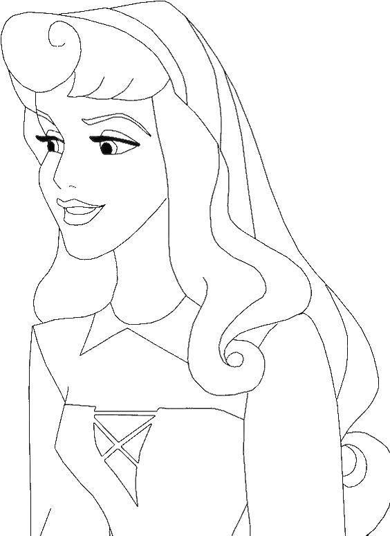 Coloring Cinderella Download Cinderella, girl, apron, birds,.  Print