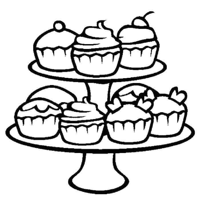 Coloring sheet sweets Download ,cartoons, children,.  Print