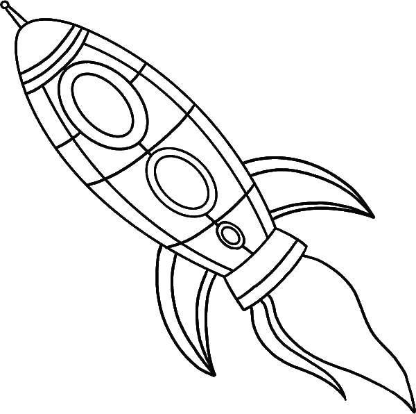 Coloring Little rocket Download Space, rocket, stars,.  Print