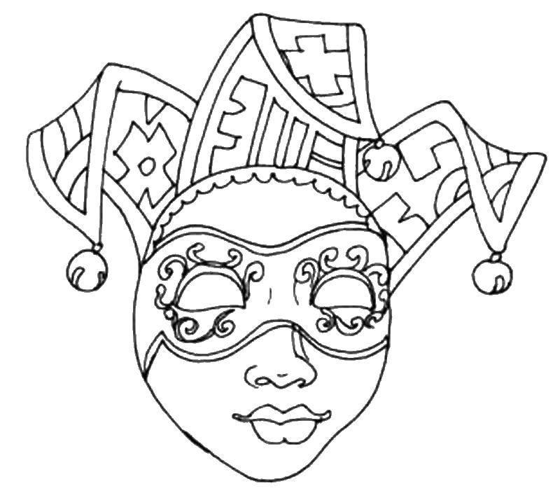 Coloring Mask Download ,Masquerade, mask,.  Print
