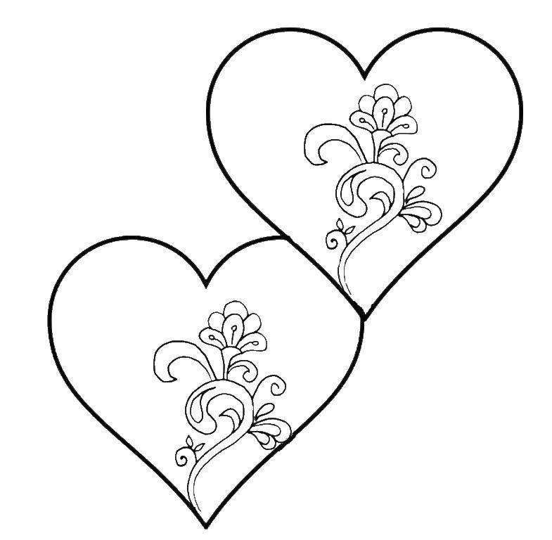 Картинки для раскраски сердечко