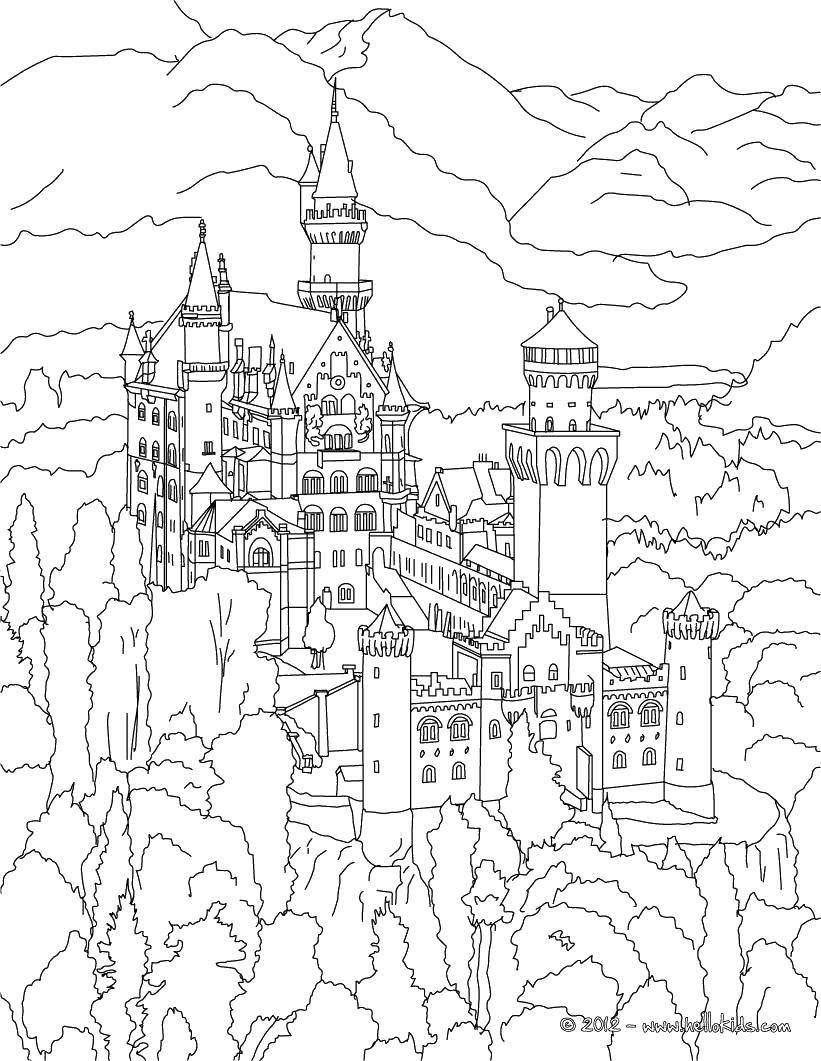 Coloring The biggest castle. Category locks . Tags:  Lock.