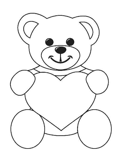 Coloring pages St Valentins day Скачать .  Распечатать