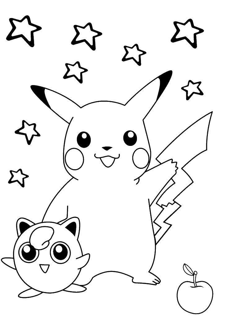 Раскраски разные, Раскраска Разные покемоны Покемоны.