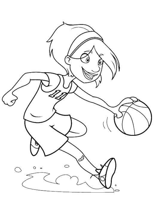 Coloring pages Sports games Скачать .  Распечатать