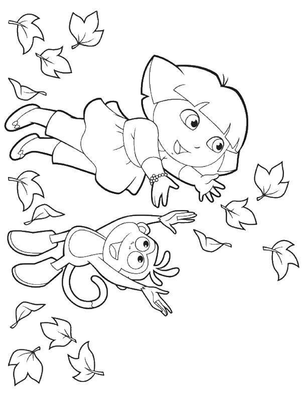 Coloring sheet Dasha traveler Download games, Tom, cat,.  Print