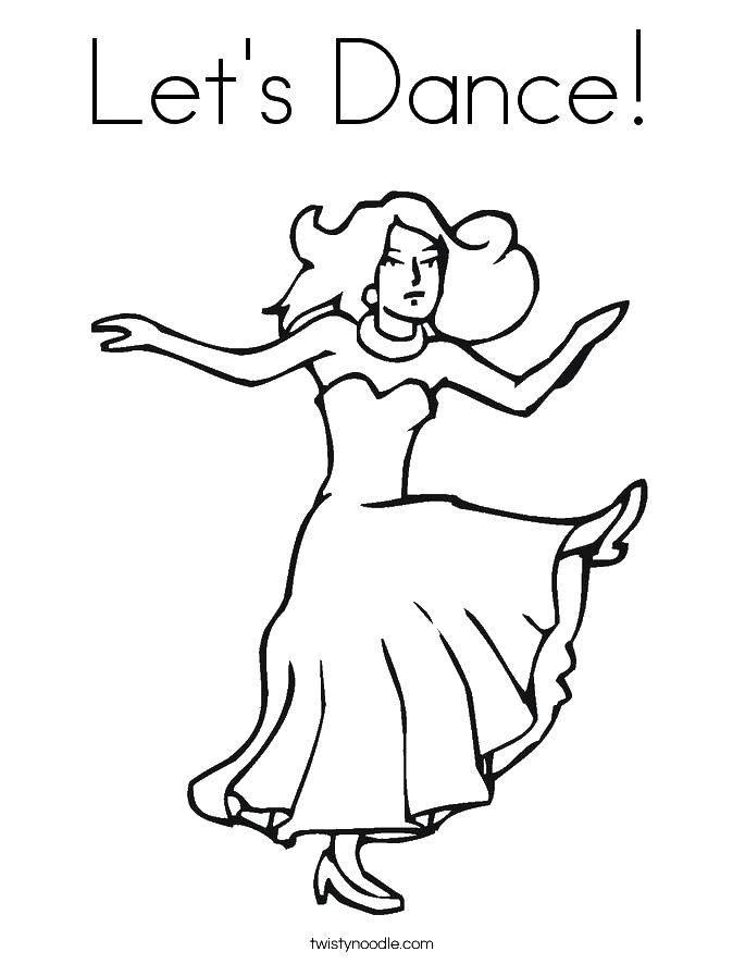 Раскраски Раскраска Балерина погрузилась в танец танец ...
