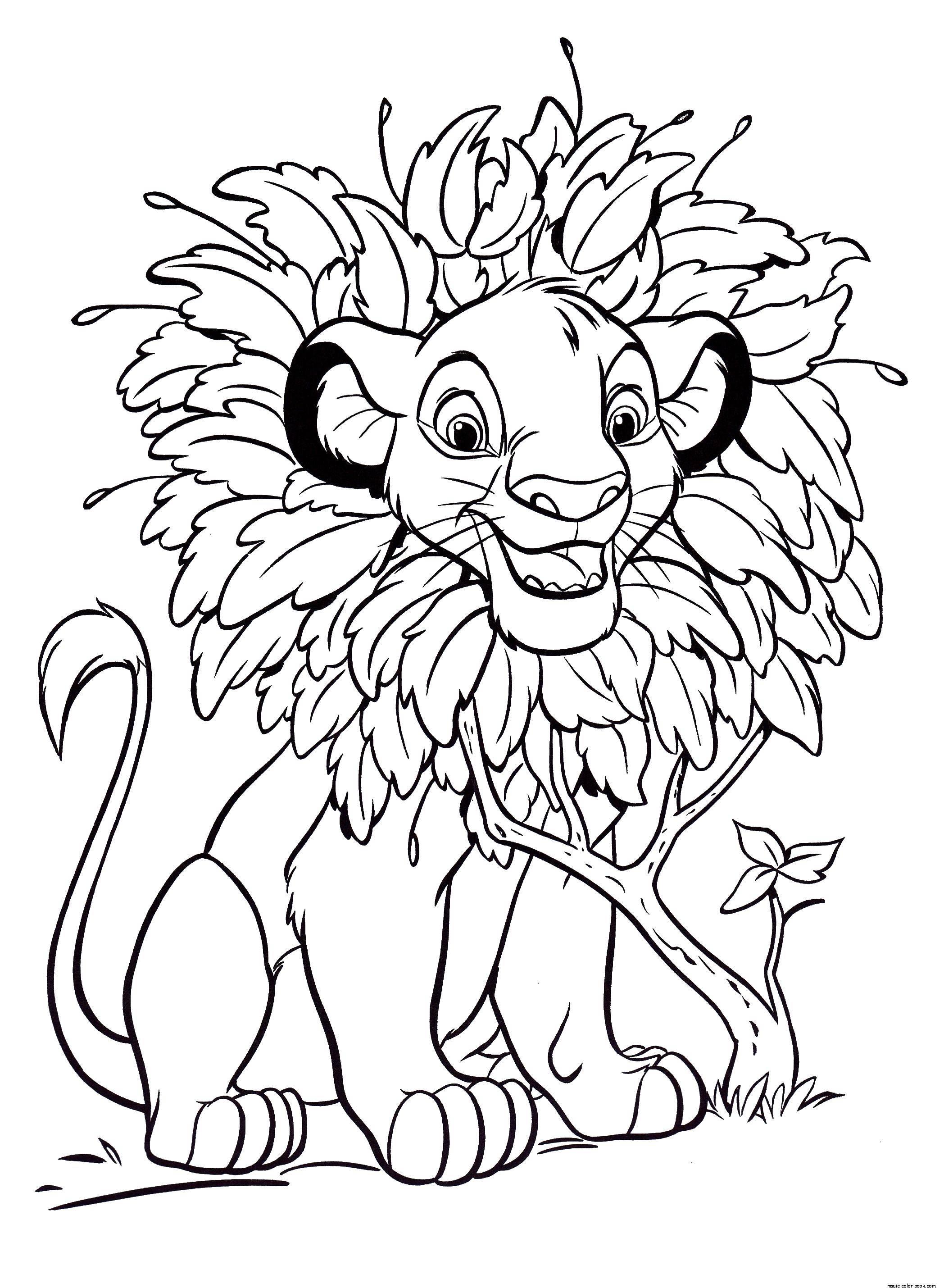 Раскраски король, Раскраска Король лев Король лев.