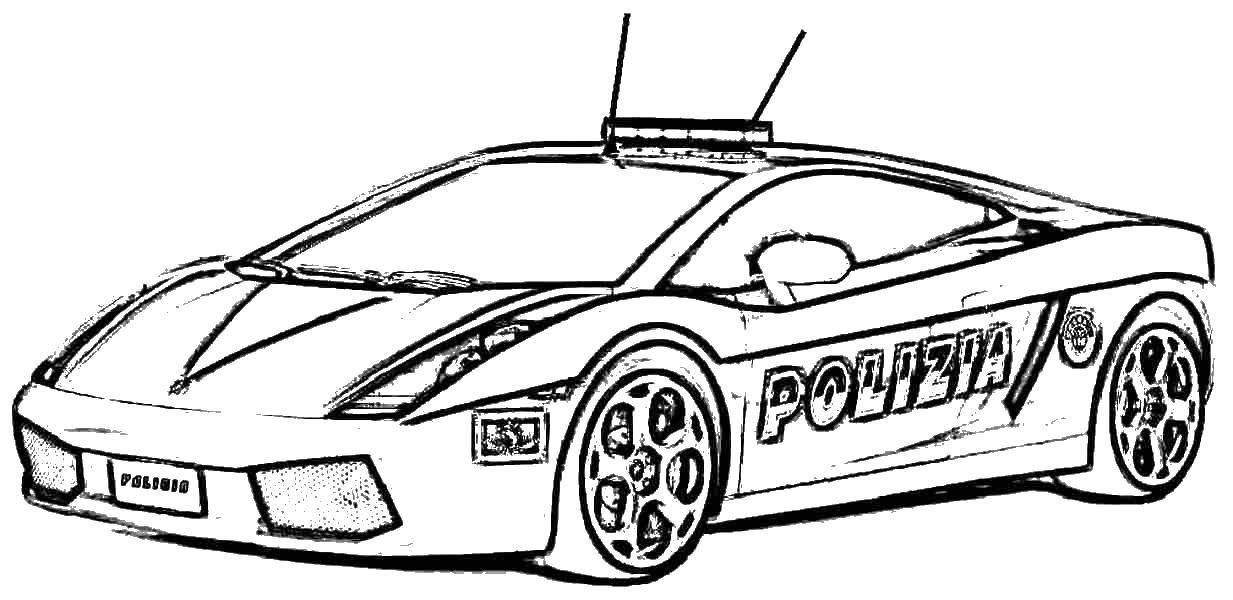 Раскраска полицейских машин в америке