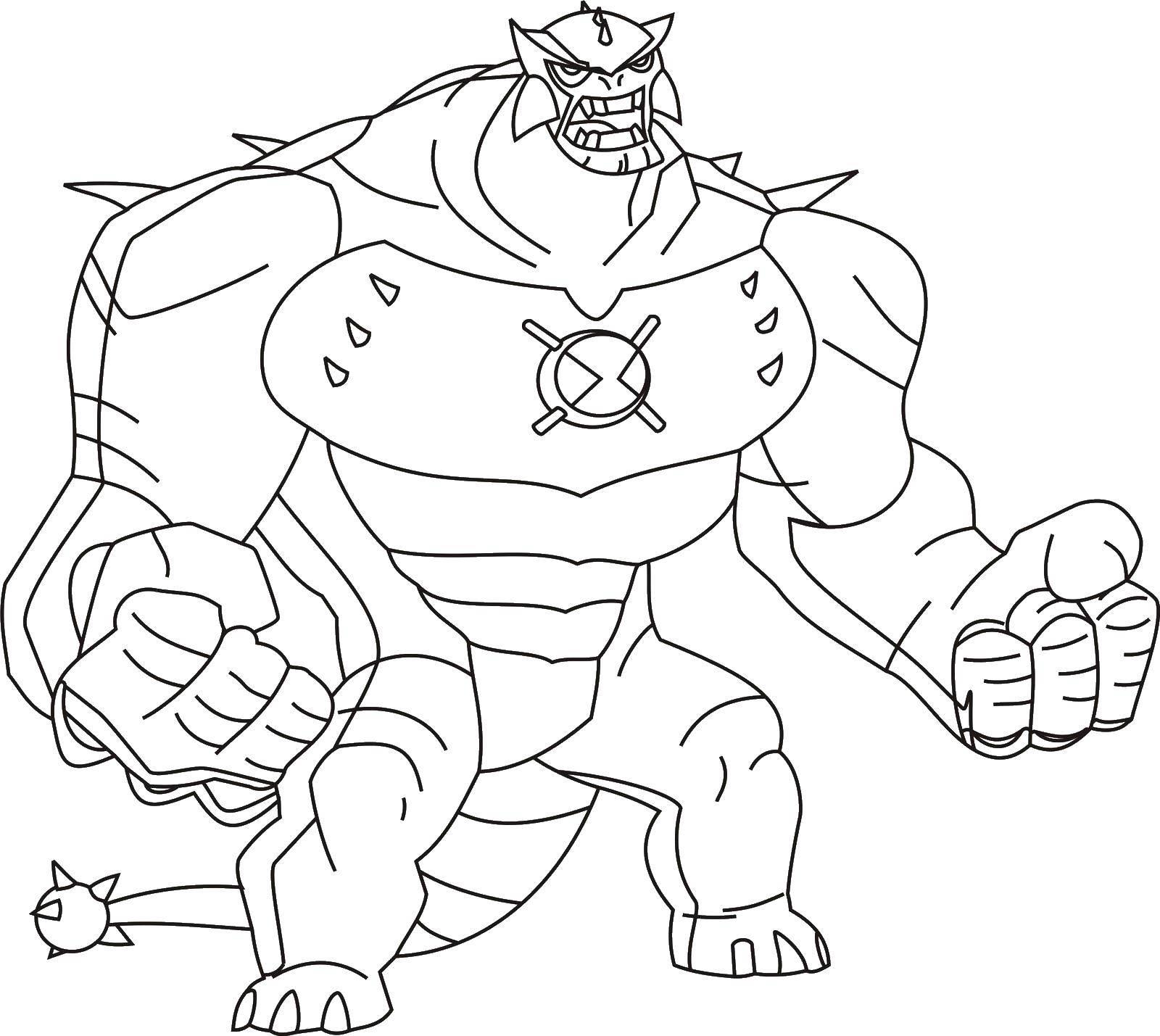 Coloring Ben ten beast Download Ben cartoon.  Print ,Ben ten,