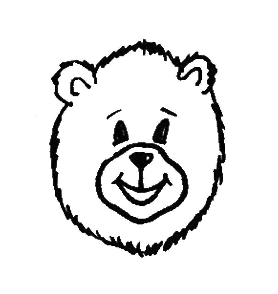Название: Раскраска Мишка. Категория: медведь. Теги: медведь, мишки.