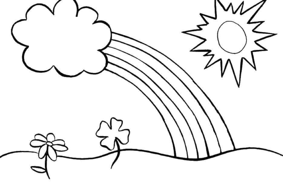 Раскраски облачко, Раскраска Радостное солнышко и облачко ...