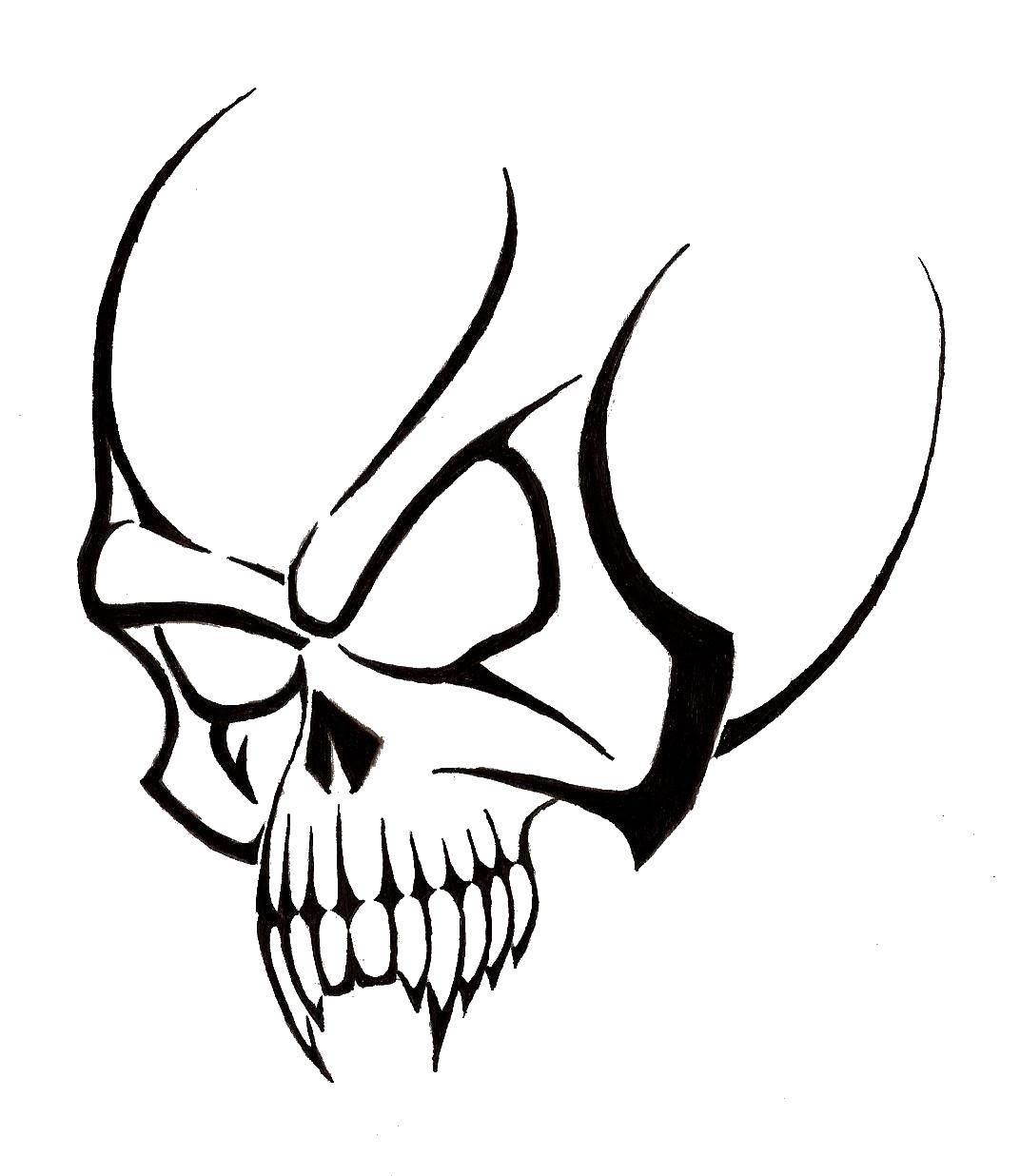 Coloring sheet skull Download .  Print