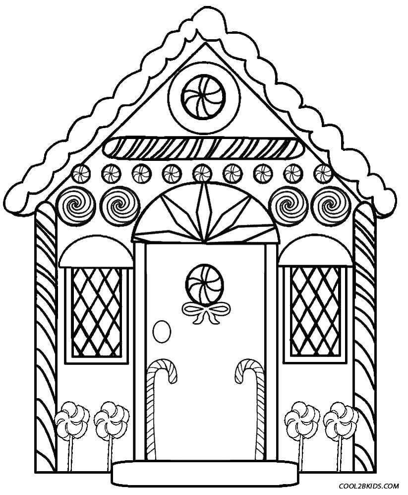 сказочный домик раскраска для малышей лучшее время для