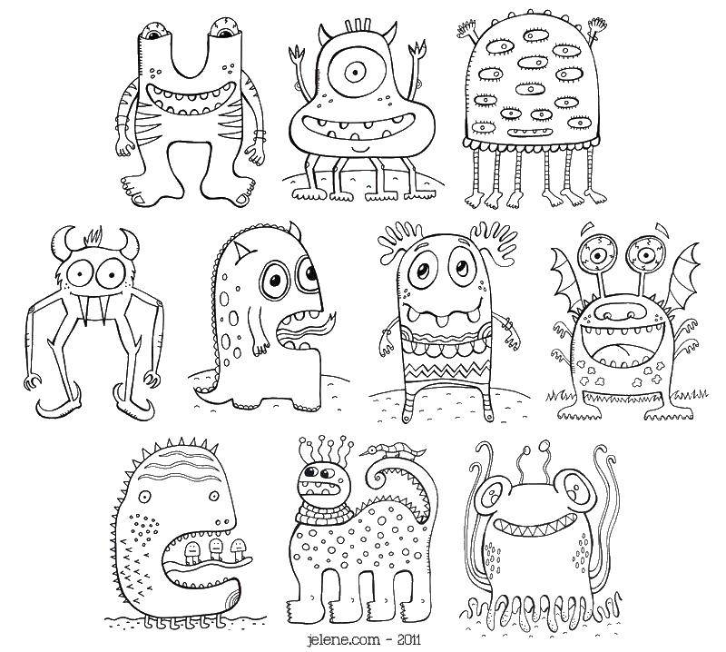 Coloring sheet Coloring pages monsters Download cum, boy.  Print ,school,