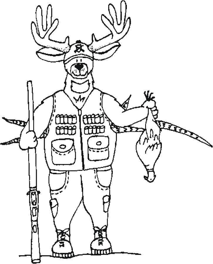 Раскраски винтовка, Раскраска Снайперская винтовка оружие.