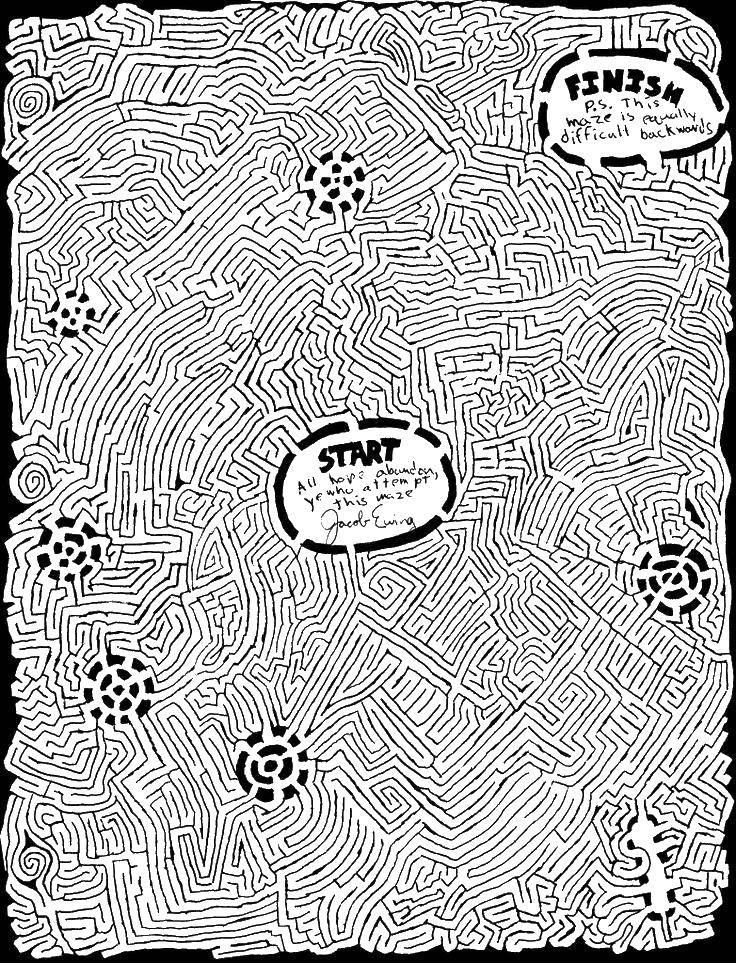 Coloring pages mazes Скачать .  Распечатать