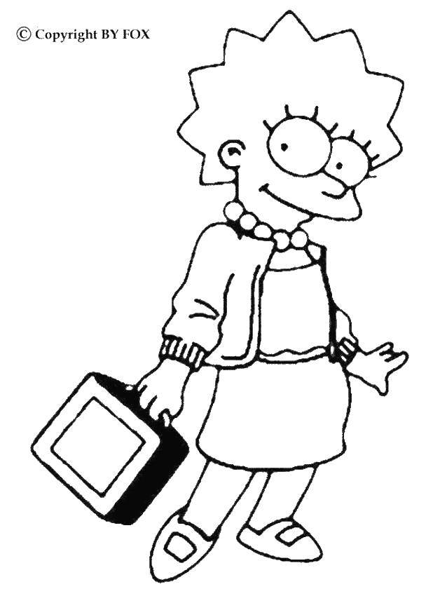 Coloring sheet The simpsons Download Gifts, holiday.  Print ,gifts,