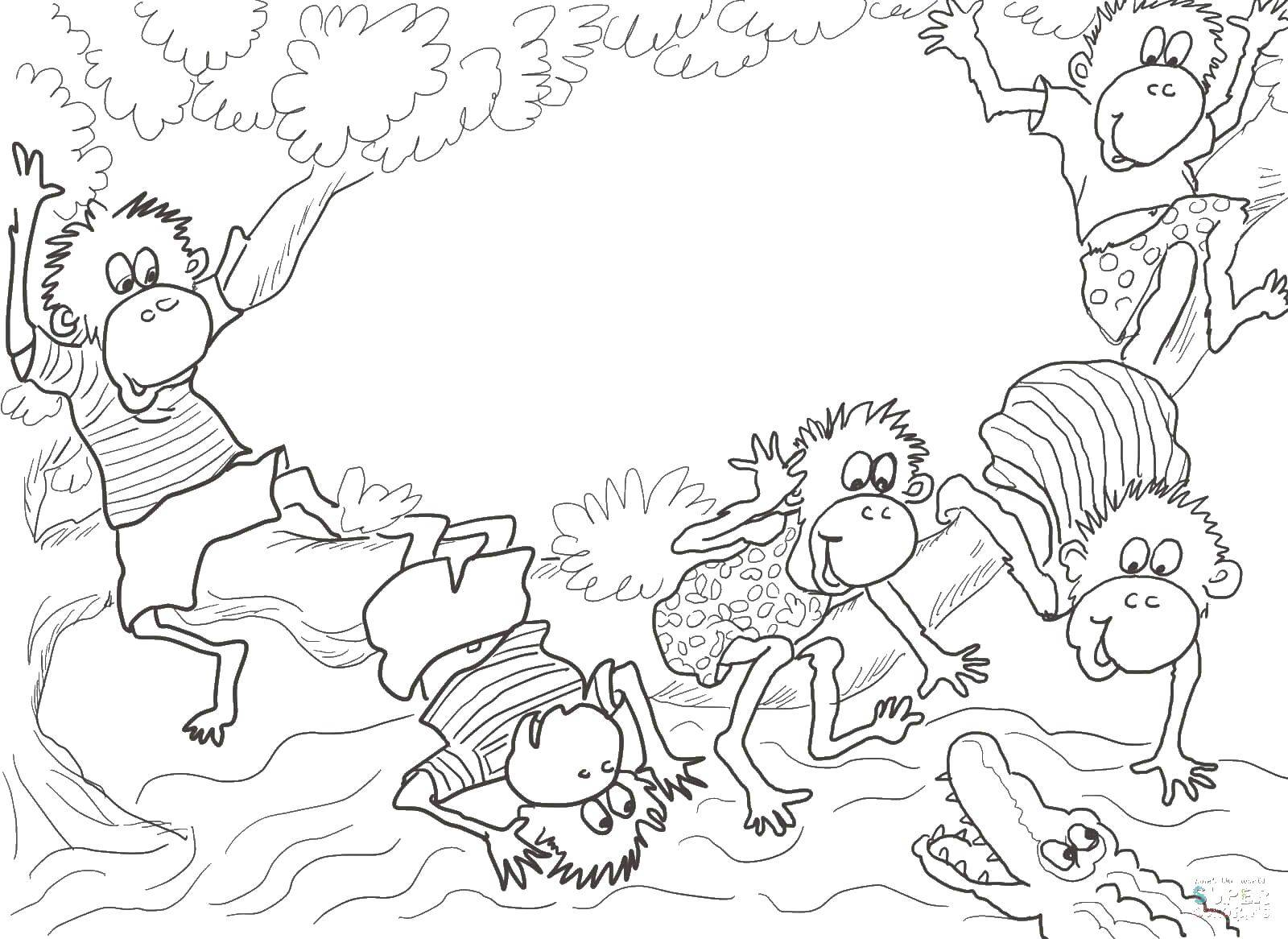 Раскраски остров Раскраска Остров пальм дерево