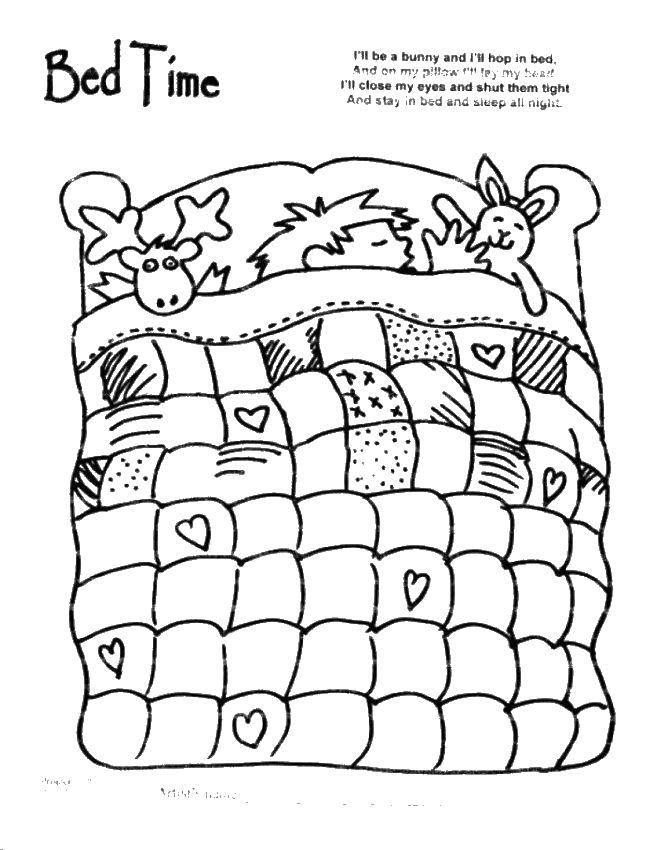 скачайте раскраска одеяло для ванюши позволяют представить себе