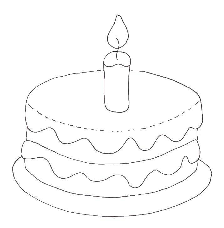 раскраска праздничный торт распечатать уже догадались, что