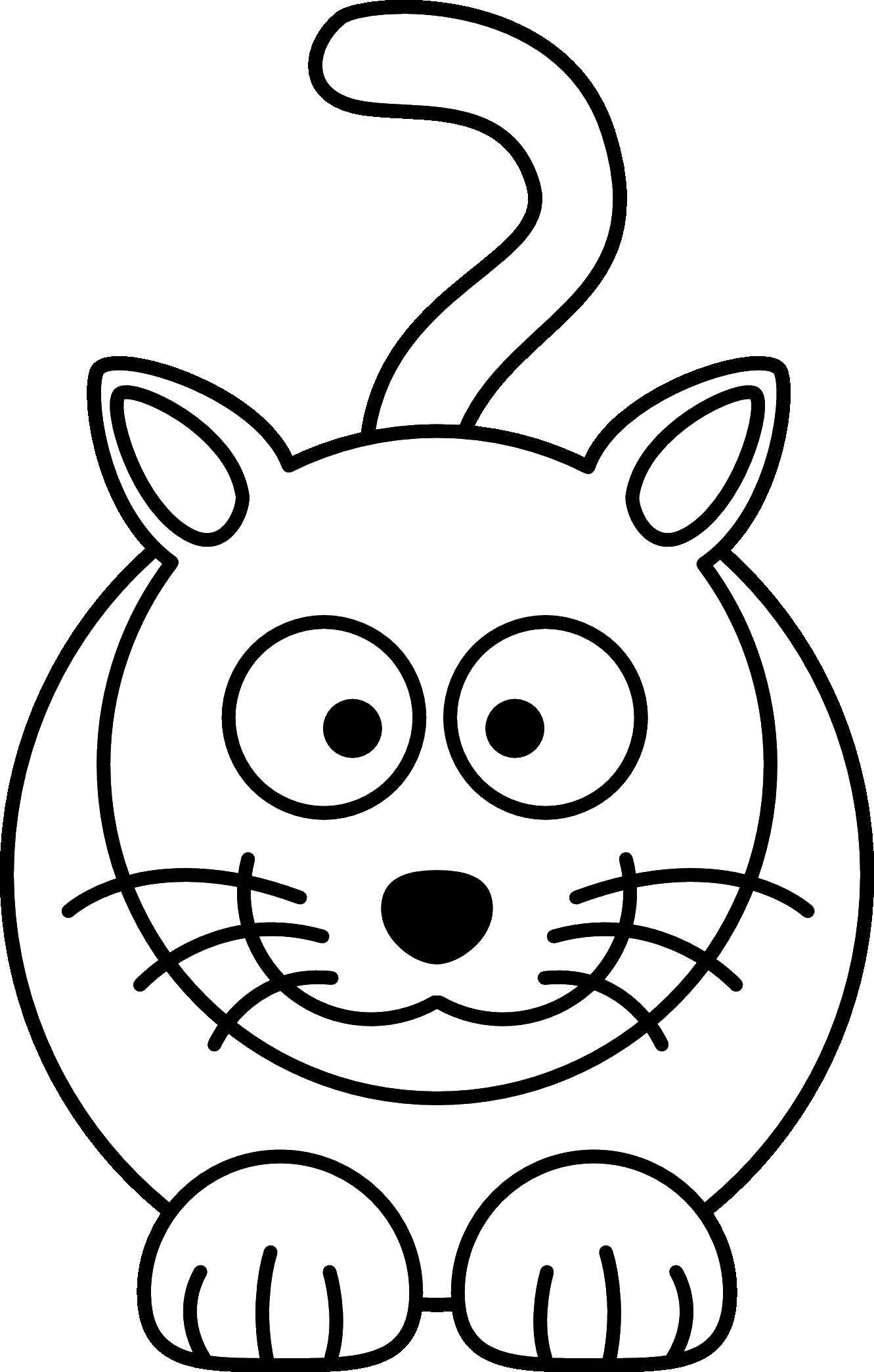 Coloring sheet Cat Download ,professions, waiter,.  Print
