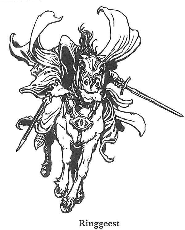 Раскраски колец, Раскраска Саурон из властелина колец ...