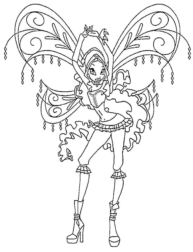Coloring Layla, the fairy of winx club Download Leila, Winx,.  Print