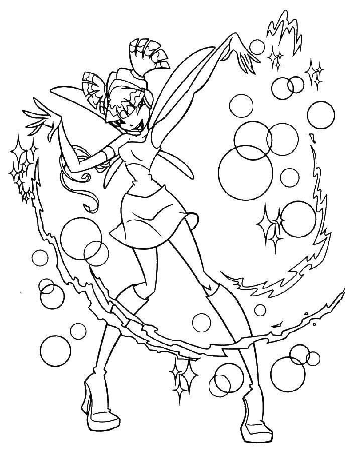 Coloring sheet Winx Download .  Print