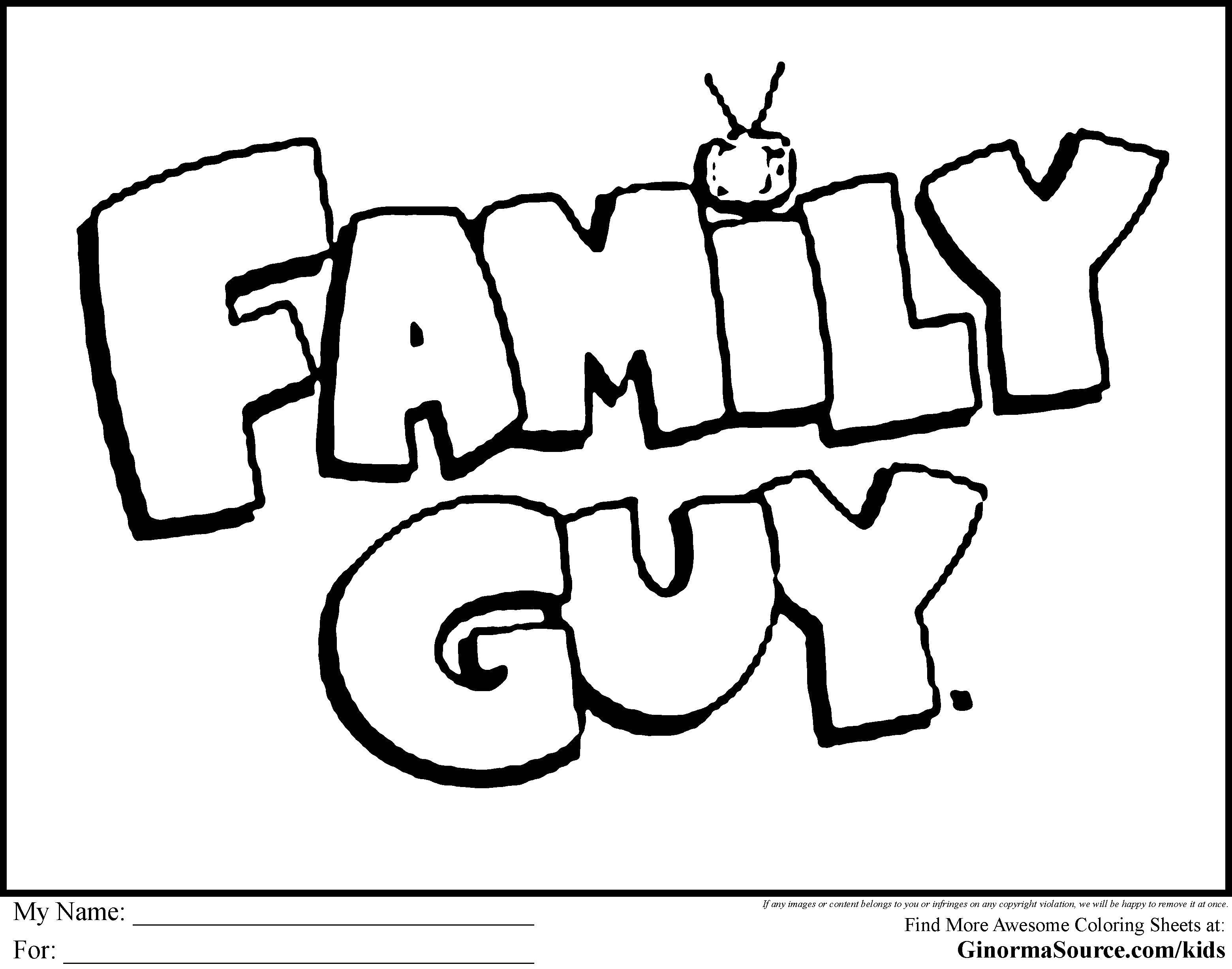 Family Guy Quagmire Coloring Pages Printable | 2455x3120