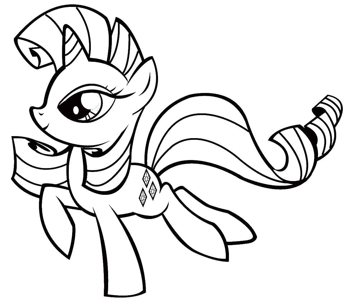 Раскраски пони, Раскраска Персонажи из my little pony мой ...