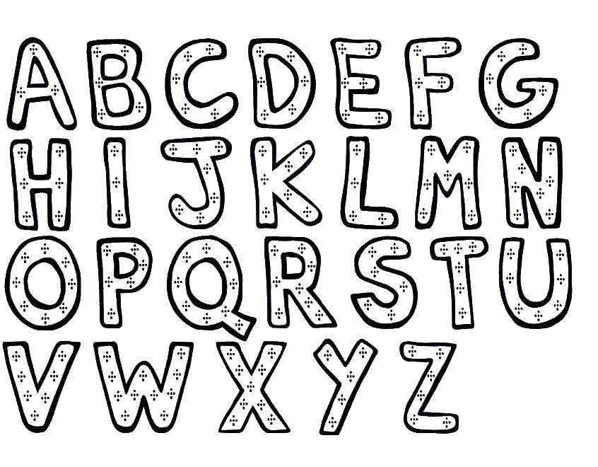 Coloring sheet English alphabet Download .  Print