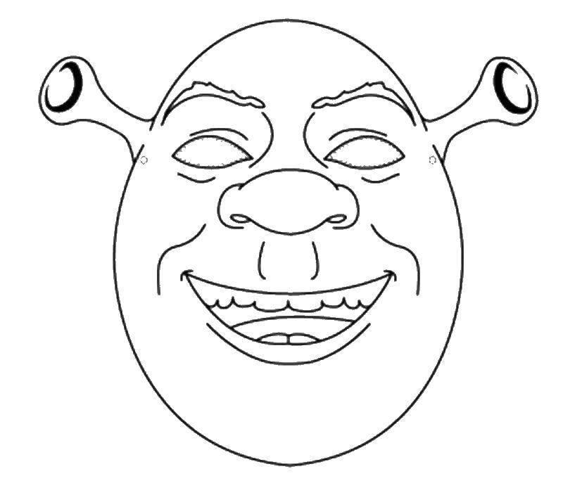 Coloring Mask of Shrek Download ,the mask,Shrek,.  Print