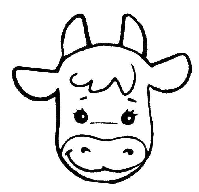 Картинка маска теленок для детей