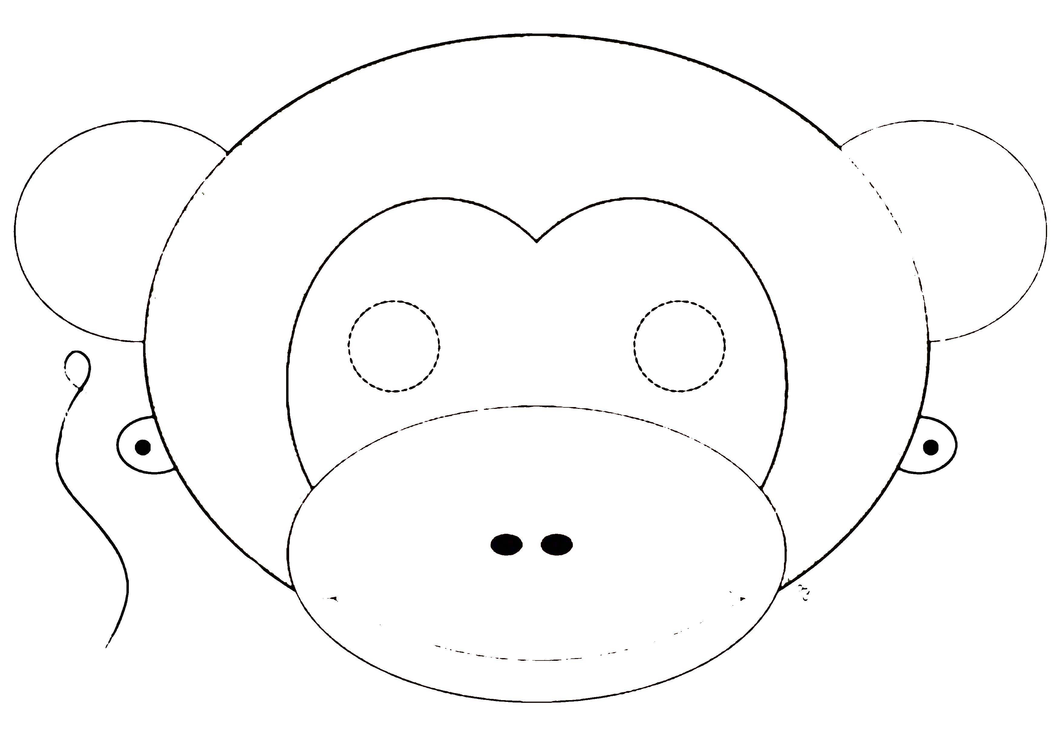 здесь маска медведя раскраска на голову из бумаги распечатать королева
