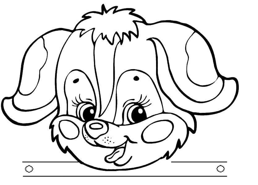 картинка головы собаки раскраска вам нужно изменить