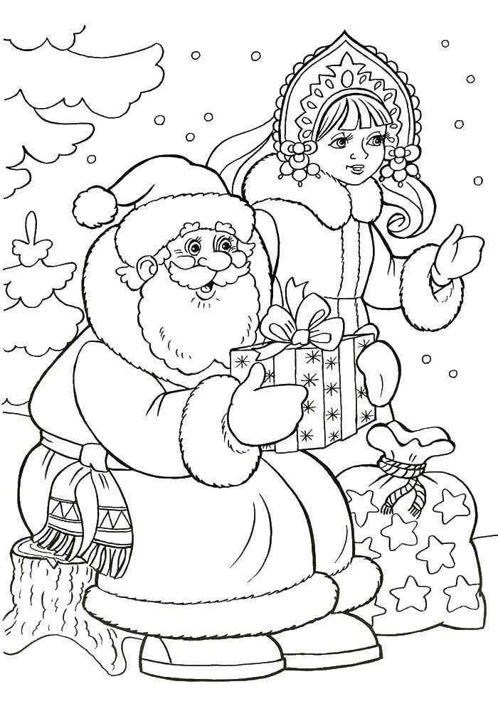 Coloring pages new year Скачать .  Распечатать