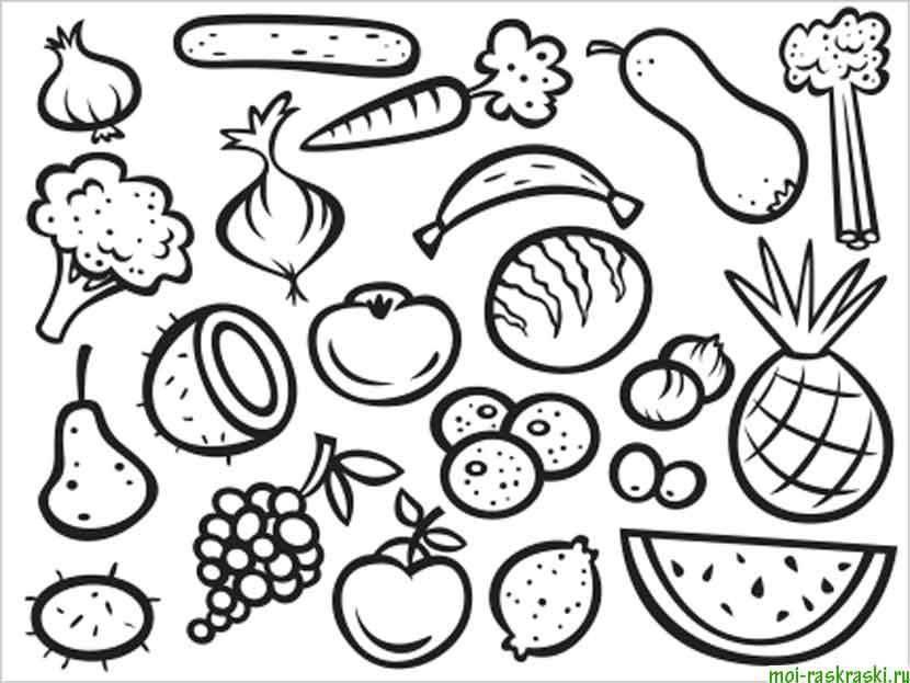 Coloring sheet vegetables Download flowers, plants, buds, petals, vase,.  Print