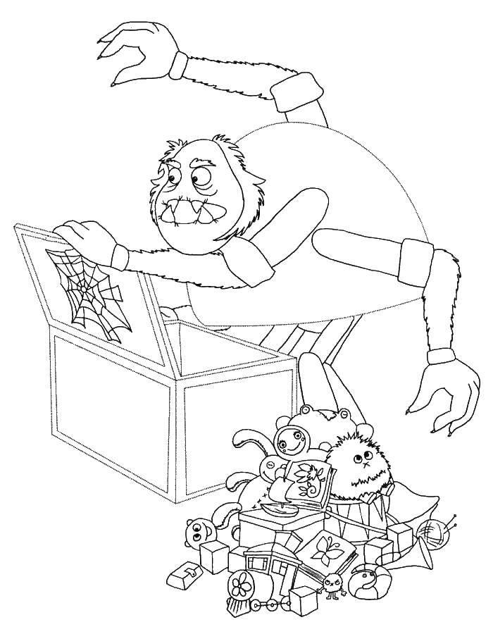 Раскраска. Пчеленок с фонариком - раскраска из мультфильма: лунтик ... | 900x700