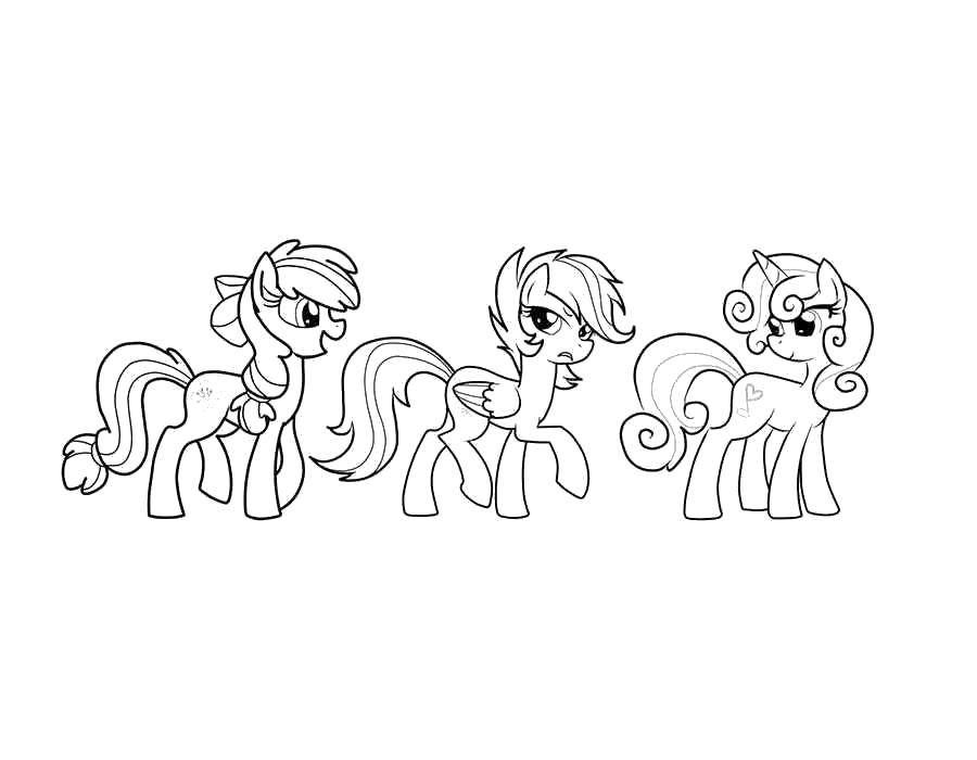 Coloring Ponies from my little pony Download Pony, My little pony,.  Print