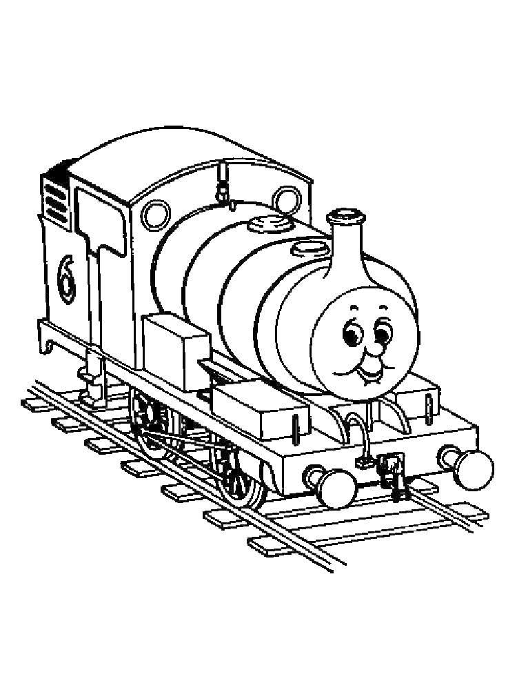 Раскраски длинный, Раскраска Длинный поезд поезд.