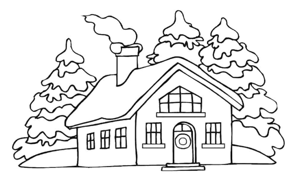 Картинка снежного домика раскраска