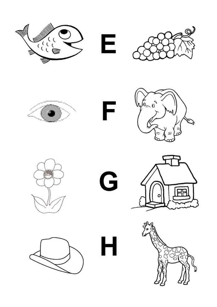 Соединить слова с картинками по английскому