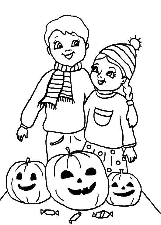 Coloring sheet Halloween Download island, vacation, sun, palm trees.  Print ,the rest,