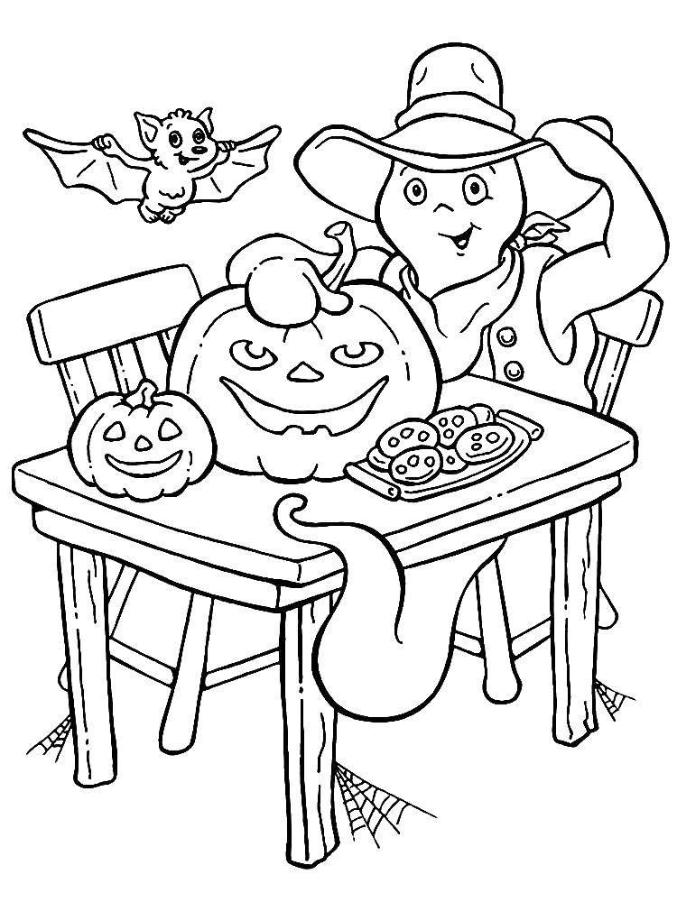 Раскраски Раскраска Мальчик за столом дети, Раскраски на ...