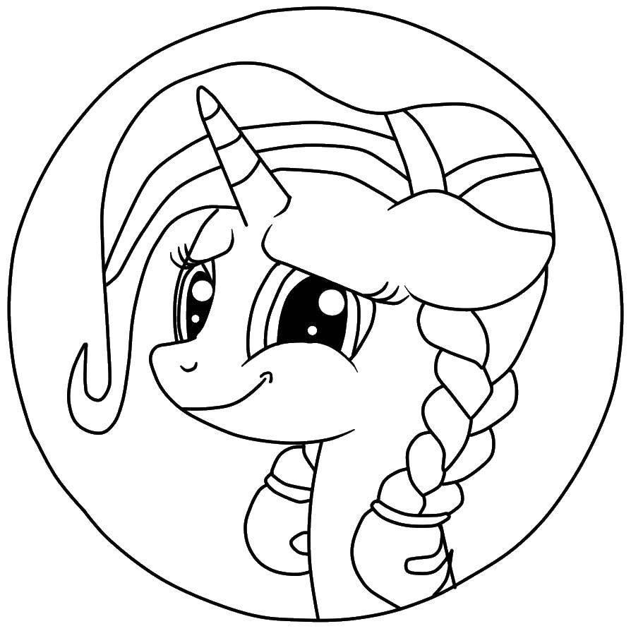 Не разукрашенные картинки пони