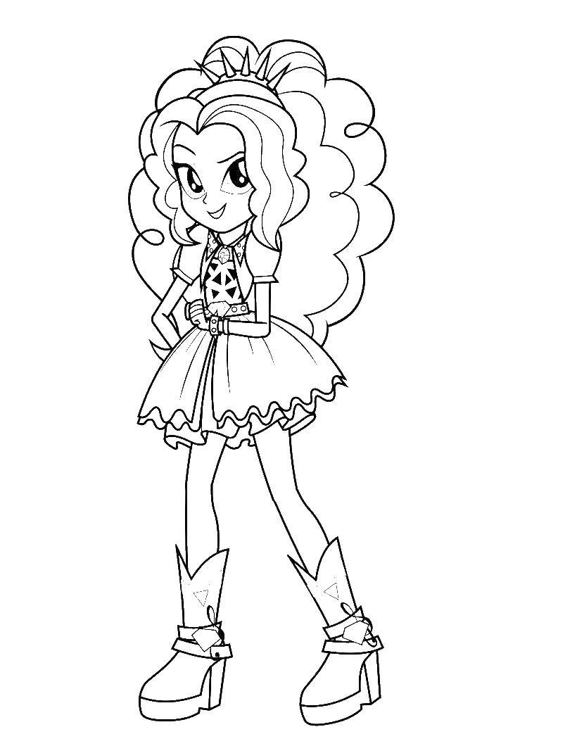 Coloring Adagio dazzle Download ,equestria girls, pony,.  Print