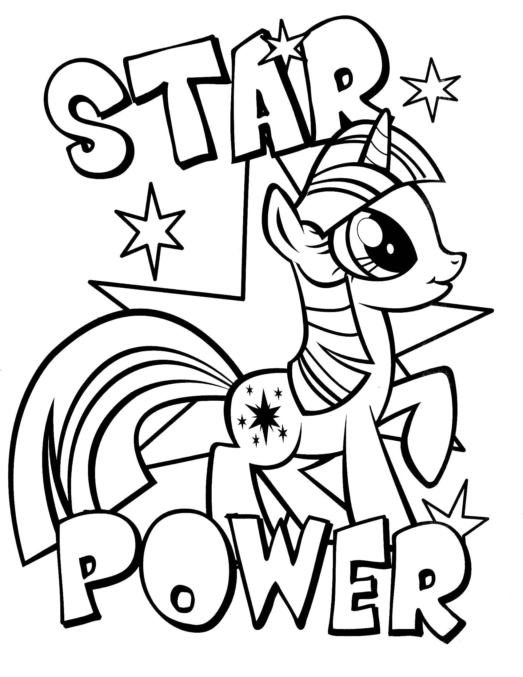 Coloring Star power Download Pony, My little pony,.  Print
